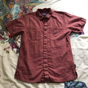 """Men's Patagonia """"Back Step Shirt"""" Red Checked"""